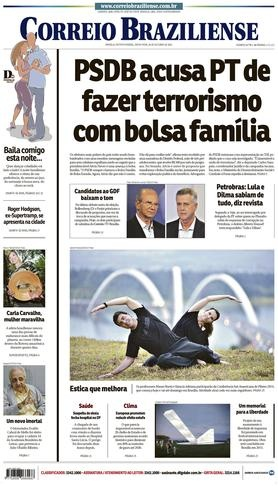 Capa do Correio Braziliense